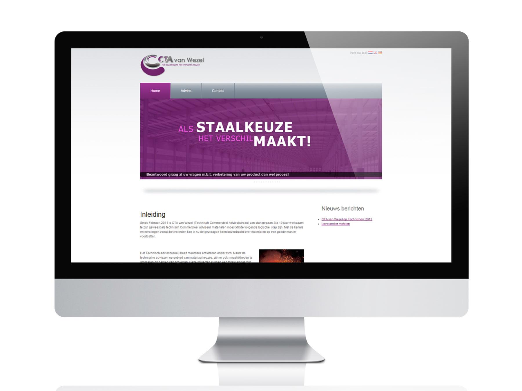 Website CTA van Wezel Winterswijk