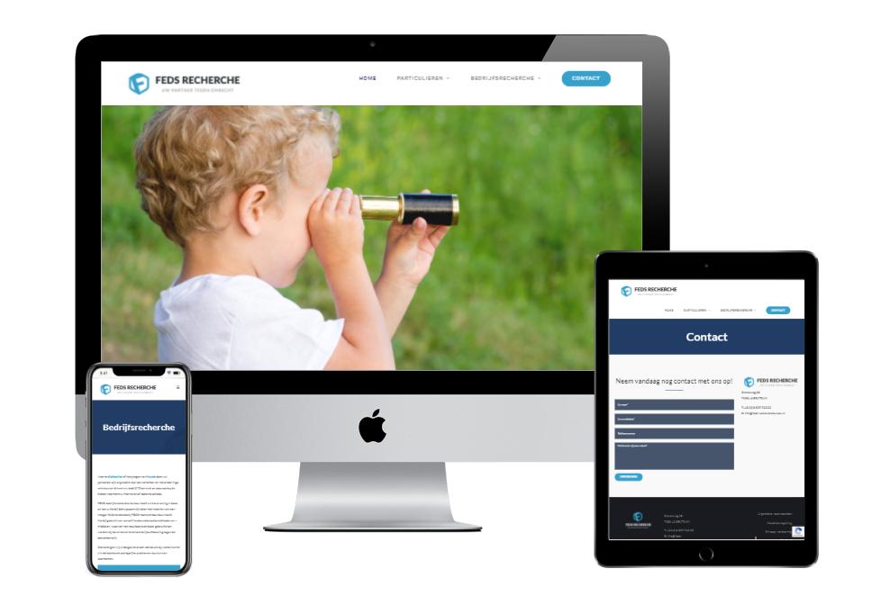 Website ontwerp FEDS-Recherche in Beltrum