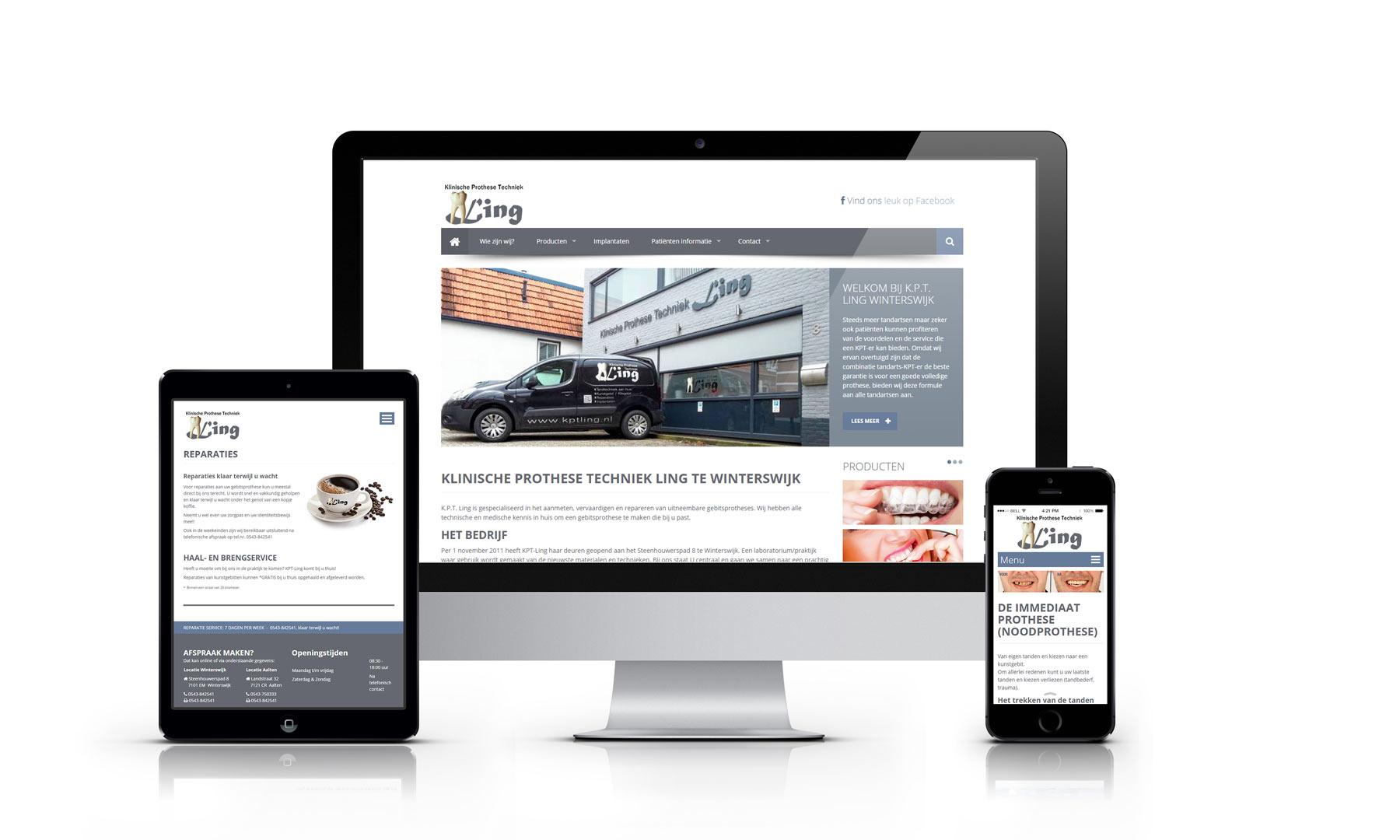 Website ontwerp KPT Ling Winterswijk en Aalten