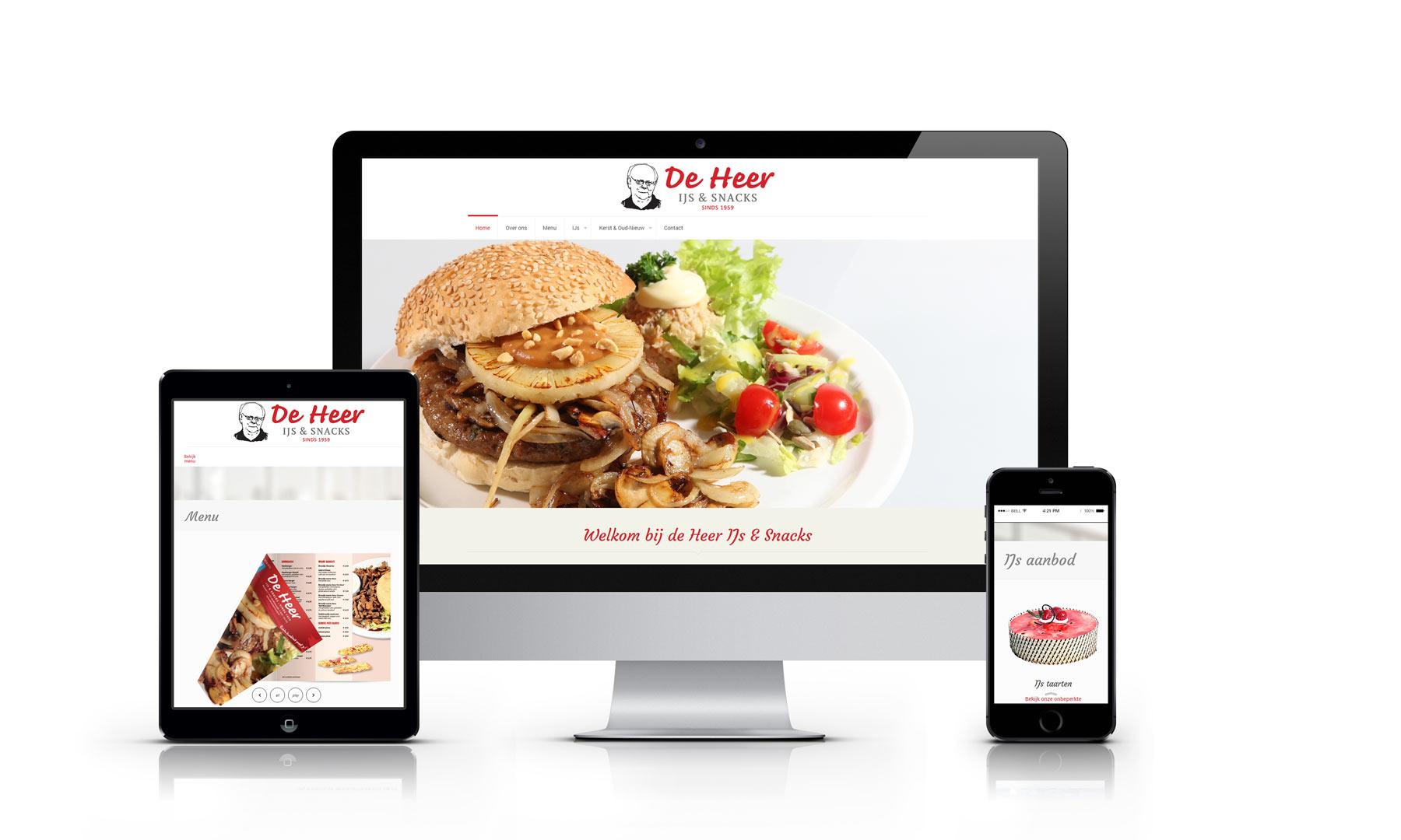Website de Heer IJs & Snacks Winterswijk