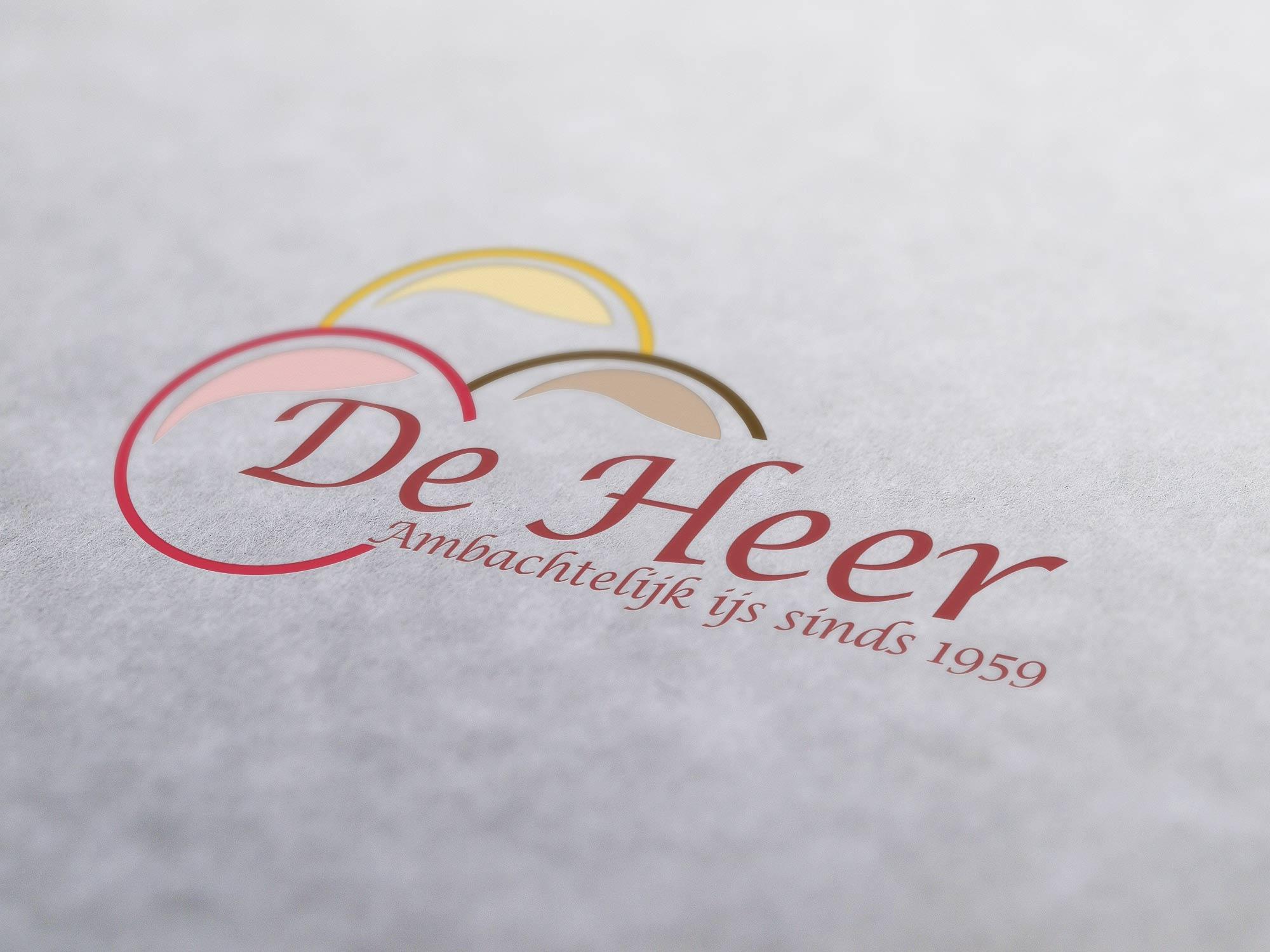 Logo ontworpen voor de Heer IJs en Snacks uit Winterswijk