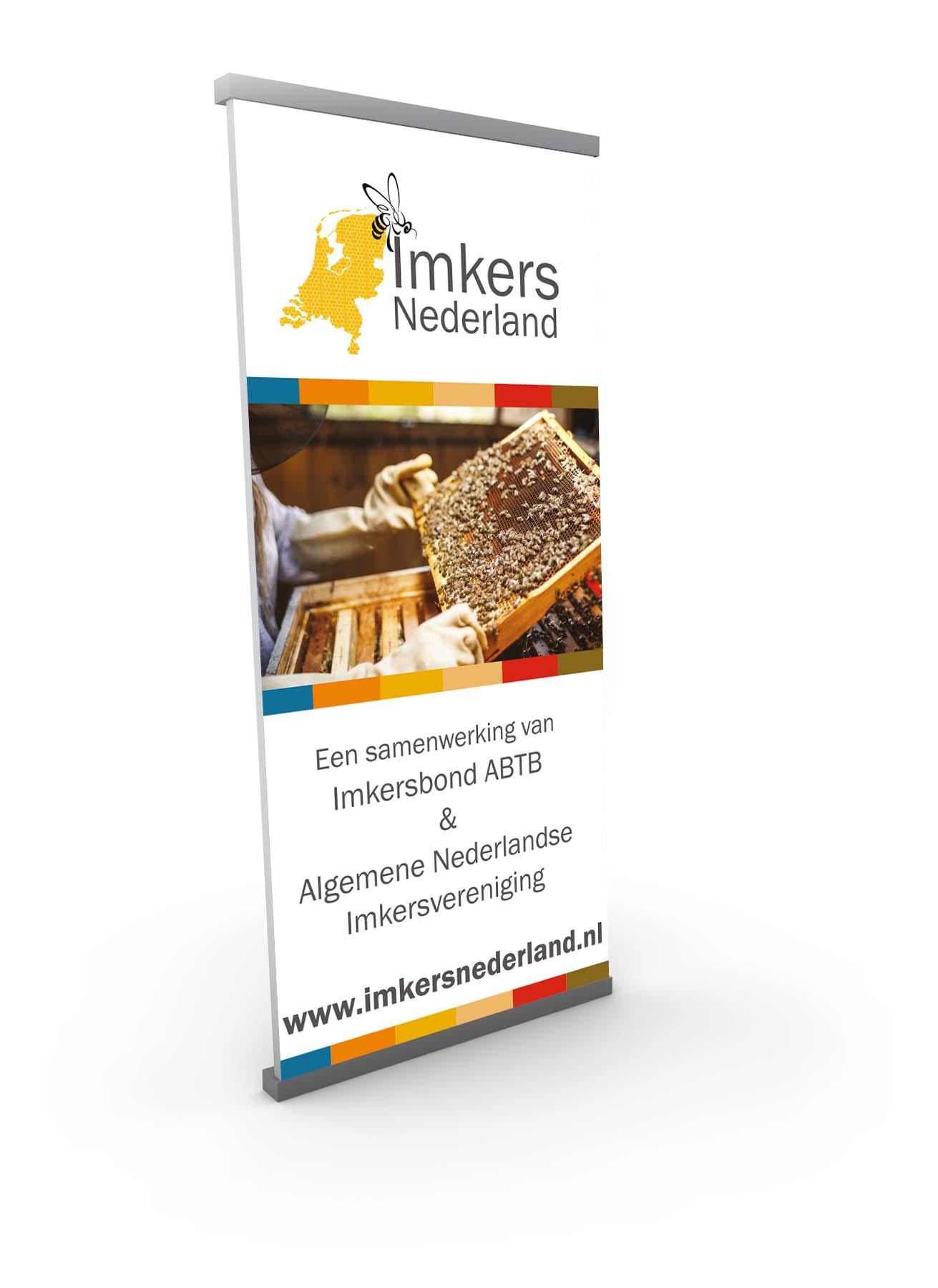 Roll-up banner voor Imkers Nederland Lichtenvoorde