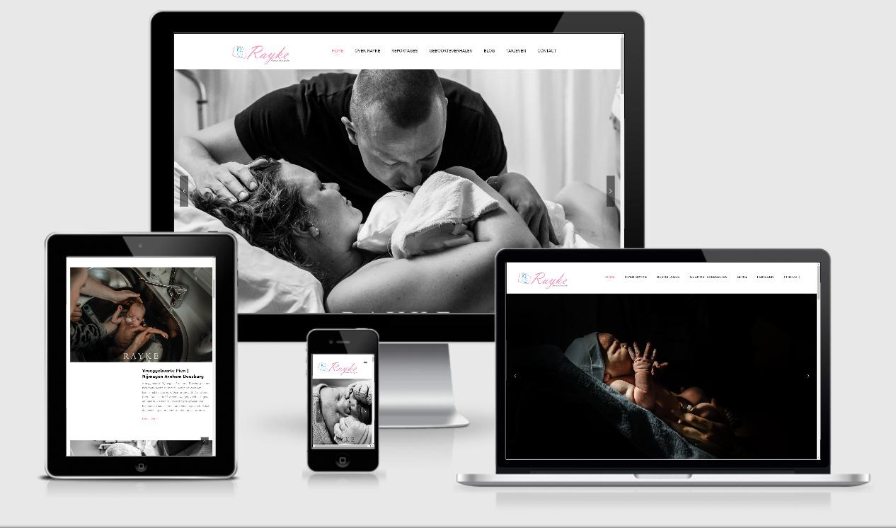 Website ontwerp Raykte Geboortefotografie Winterswijk