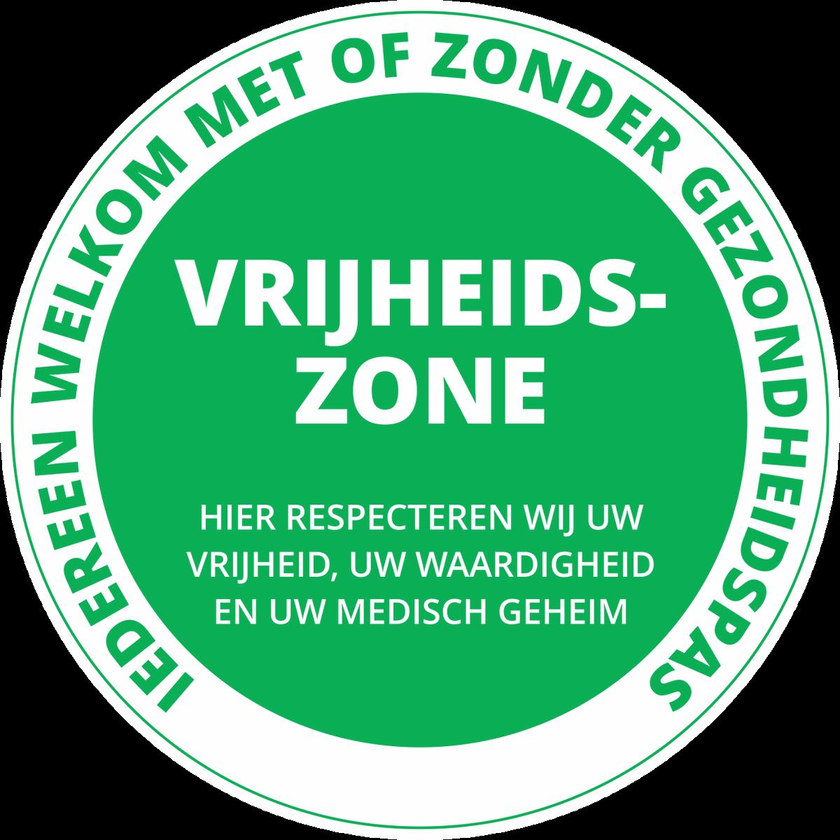 Vrijheidszone Sticker